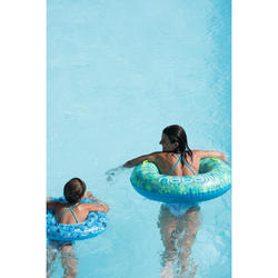 Zwemband volwassenen 92 cm blauw ALL TROPIC grote maat met comfortgrepen