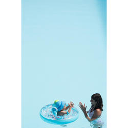 """Bouée siège bébé 7-15 kg transparente imprimée """"ALL SLOTH"""" avec poignées"""