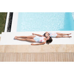Badeanzug Riana Damen Ond weiß