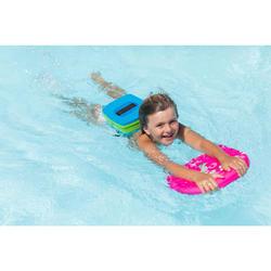游泳腰帶搭配可拆式浮具,藍色綠色