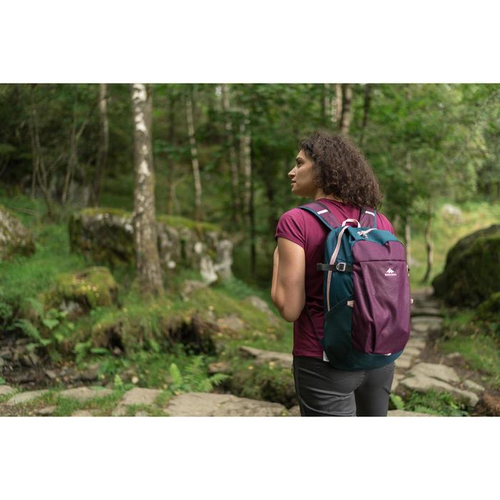 Wanderrucksack Naturwandern NH100 20 Liter dunkellila