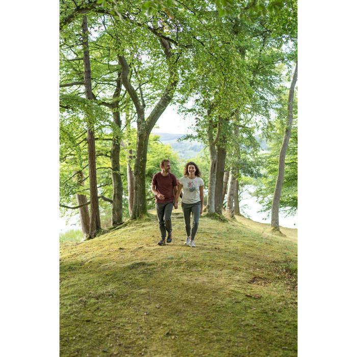 Wandershirt Naturwandern NH500 Damen weiß