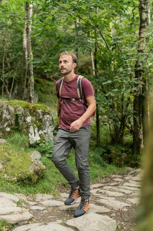 Camiseta de senderismo en naturaleza NH500 Fresh burdeos hombre