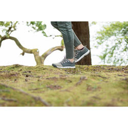 Zapatillas de MONTAÑA Y SENDERISMO naturaleza NH500 beige gris mujer