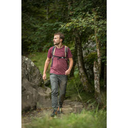 Wandershirt Naturwandern NH500 Fresh Herren bordeaux