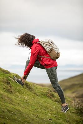 Pantalón de Montaña y Senderismo Verano Mujer Quechua NH500 Caqui