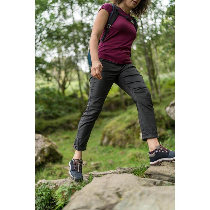 Tee shirt randonnée nature NH500 violet femme
