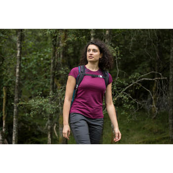 Wandershirt Naturwandern NH500 Damen lila