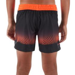 Surf Boardshort court 500 Kid Tropy Red