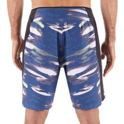 """Bañador Corto Surf Olaian 950S Soft Hombre Azul Negro 18"""""""