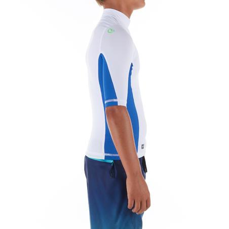 500 Children's Short Sleeve UV Protection Surfing Top T-Shirt - White
