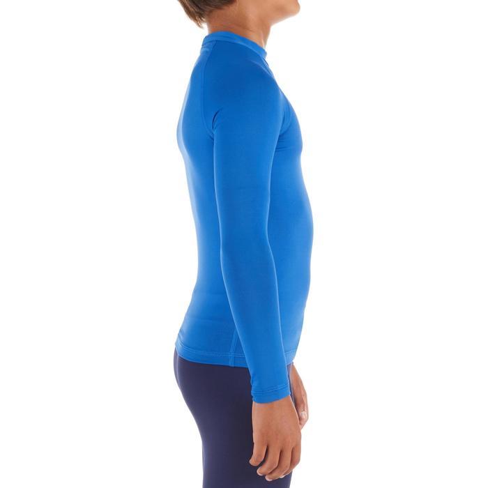 Top Camiseta Proteción Solar Playa Surf Olaian Top100 Niño Azul Zafiro ANTI-UV