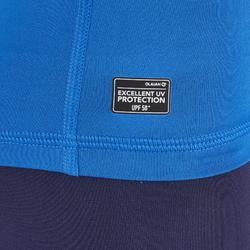 tee shirt anti uv surf top 100 manches courtes enfant BLEU