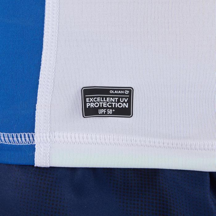 Camiseta anti-UV de surf Top 500 manga corta niño blanca