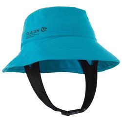 Uv-werende surfhoed voor kinderen blauw