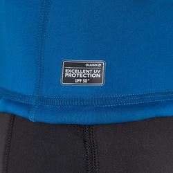 Camiseta anti-UV surf top térmico polar manga corta júnior azul