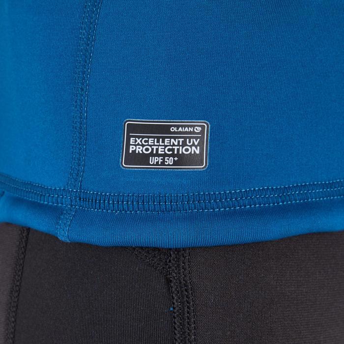Thermische en uv-werende rashguard met korte mouwen voor kinderen blauw