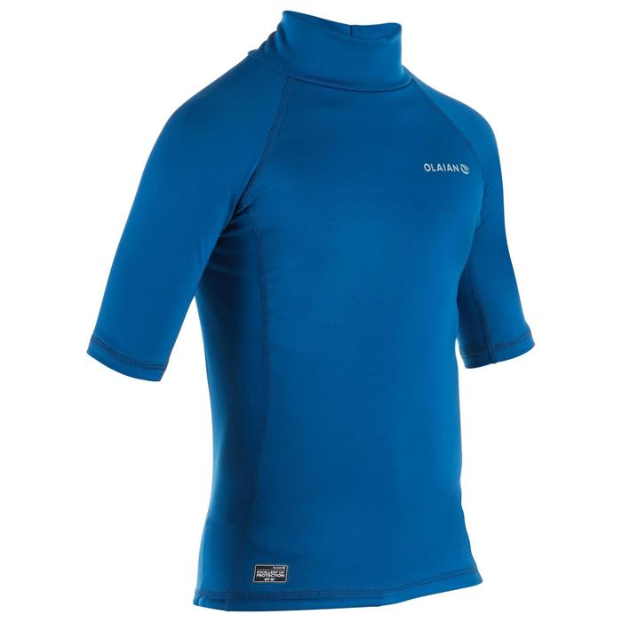 Thermo-Shirt kurzarm UV-Schutz Fleece Kinder blau