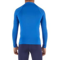 Uv-werende rashguard 100 met lange mouwen voor kinderen blauw