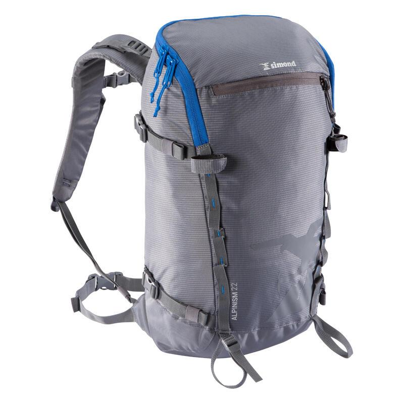 Zaino alpinismo ALPINISM 22 litri grigio