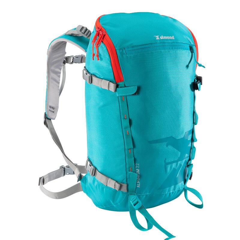 Sac à dos d'alpinisme 22 litres - ALPINISM 22 TURQUOISE