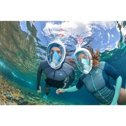 Máscara de snorkel en superficie Easybreath azul