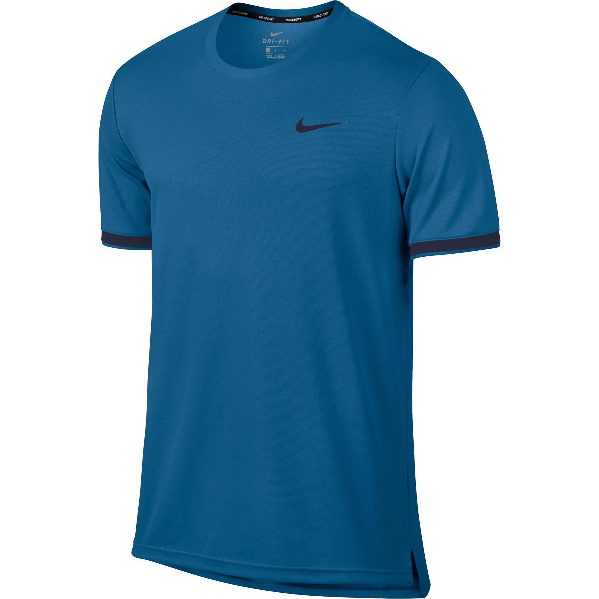 Nike Tennis T-shirt Nike Dry Top Team blauw