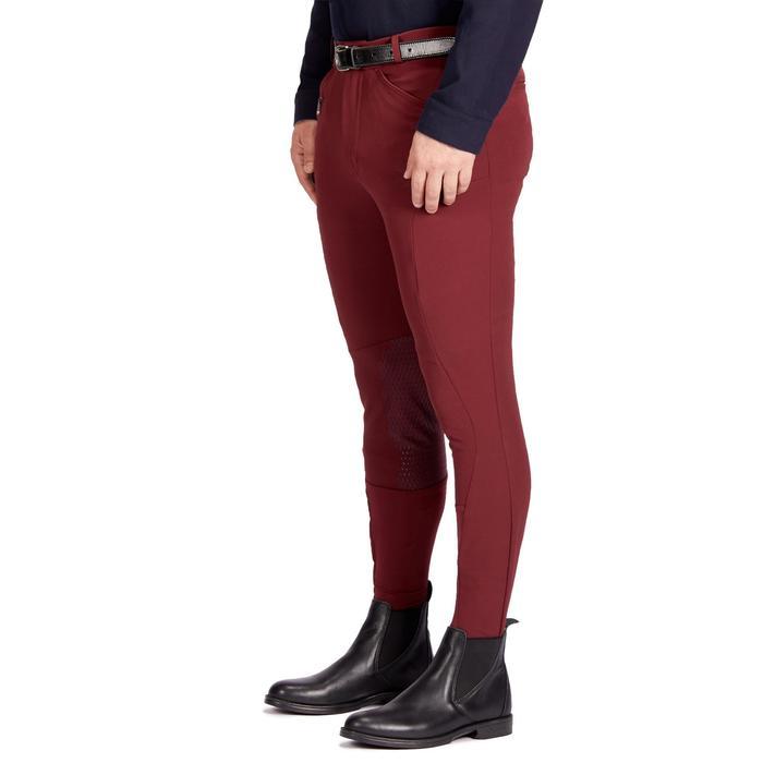 Pantalon équitation homme 700 basanes silicone bordeaux