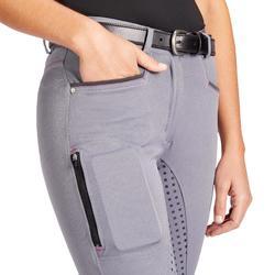 Reithose 580 Full Grip Silikonvollbesatz Damen grau