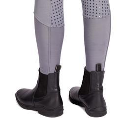 Pantalón de equitación para mujer 580 FULLGRIP parte trasera de silicona gris