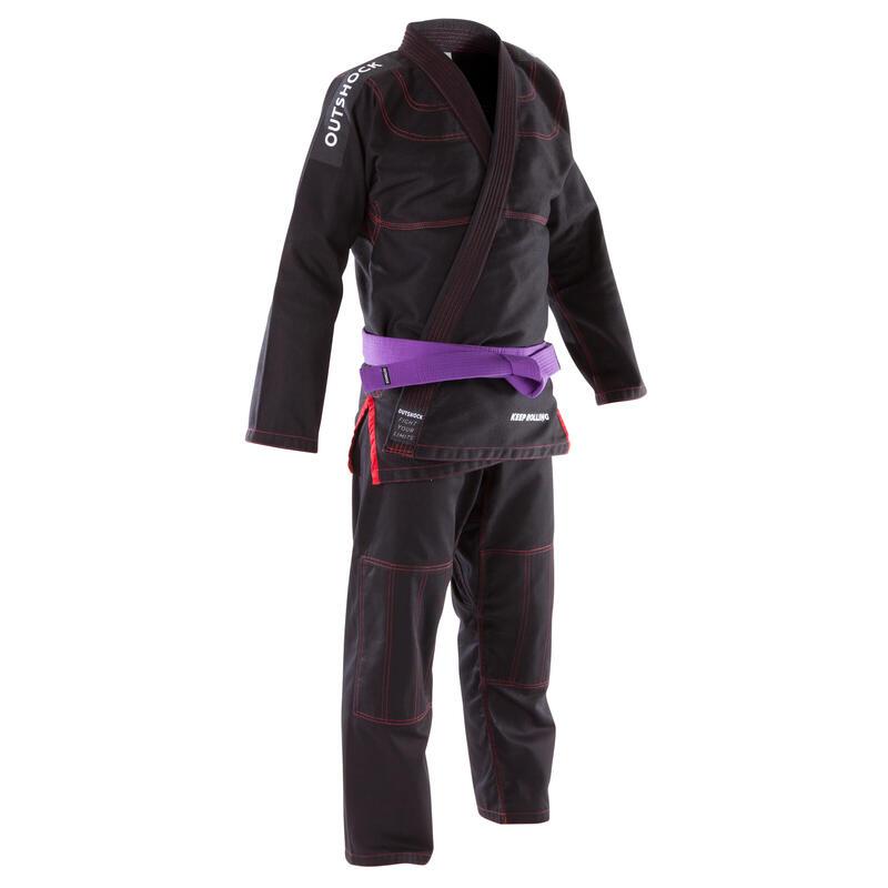 Braziliaans Jiu-Jitsu (BJJ) pak voor volwassenen 500 zwart