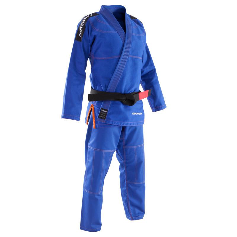 Kimono jiu-jitsu brazilian 500 Albastru Adulți
