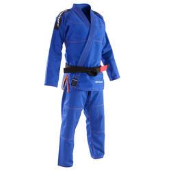 Kimono Brasilianisches Jiu-Jitsu JJB500 Erwachsene blau (OHNE GÜRTEL)
