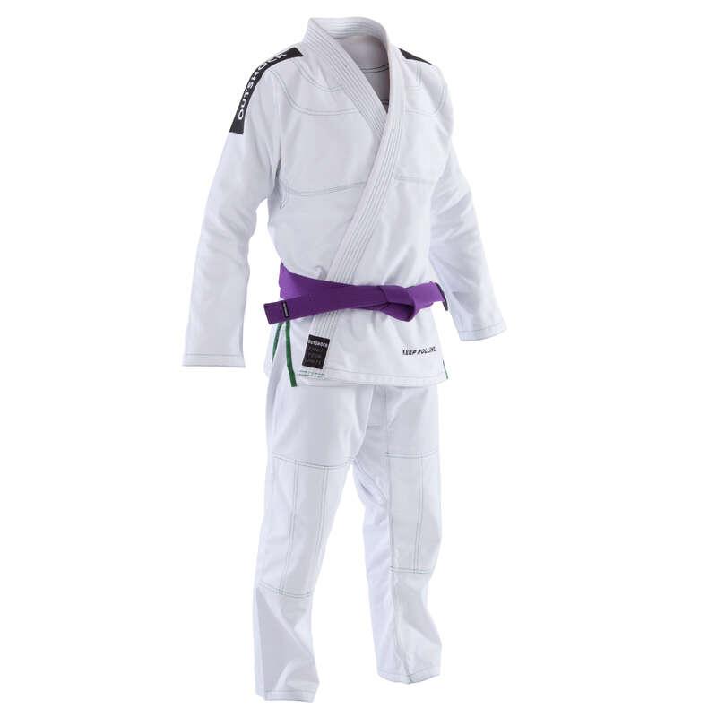 Jiu Jitsu Box si arte martiale - Kimono JJB 500 Alb Adulți OUTSHOCK - Jiu-Jitsu Brazilian
