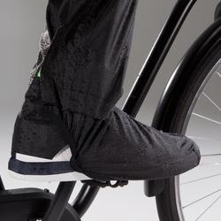 500 Urban Waterproof Cycling Overtrousers - Black