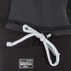 Thermische en uv-werende rashguard met lange mouwen voor heren 900 zwart