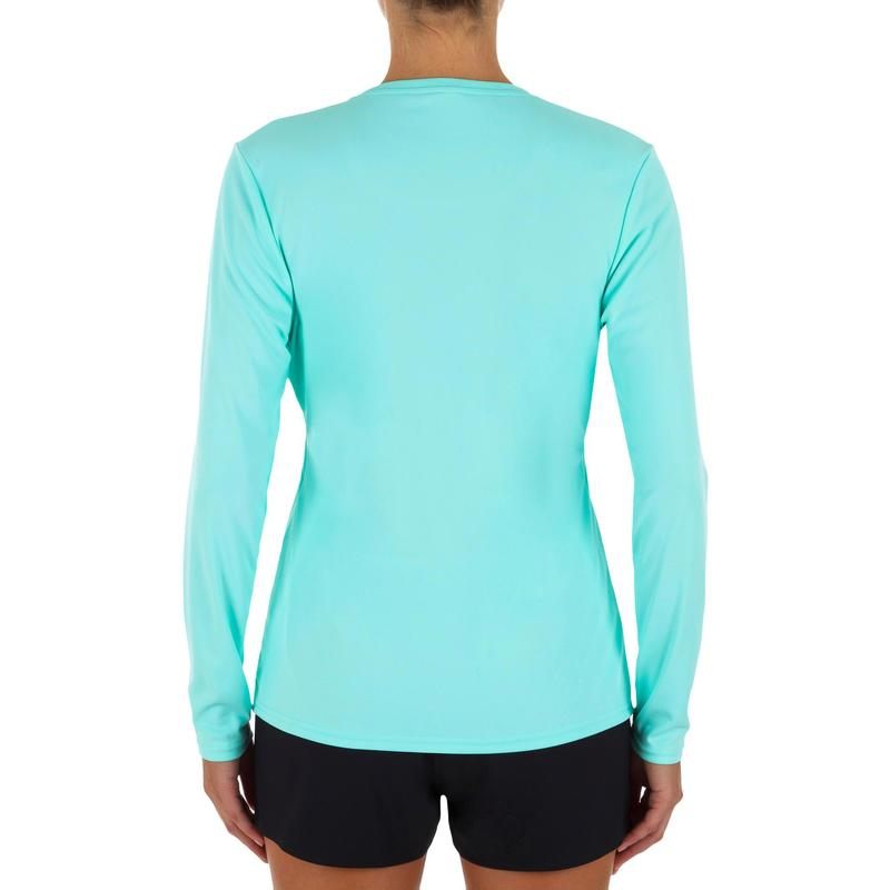c8fa4995a T-shirts anti-uv & tops thermiques femme - WATER tee SHIRT anti UV surf  Manches longues femme corail vert clair