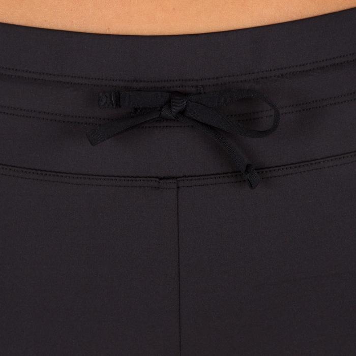 女款抗UV衝浪緊身褲500-粉紅色/黑色