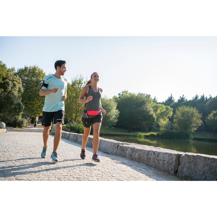 KALENJI RUN SUPPORT WOMEN'S RUNNING SHOES - DARK GREY