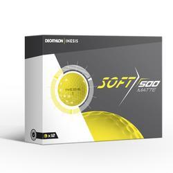 Golfbälle Soft 500 mattiert 12 Stück gelb