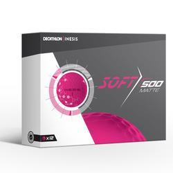 Golfbälle Soft 500 Matt 12 Stück rosa