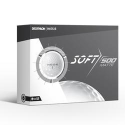 Soft 500 Matt White Golf Ball x12