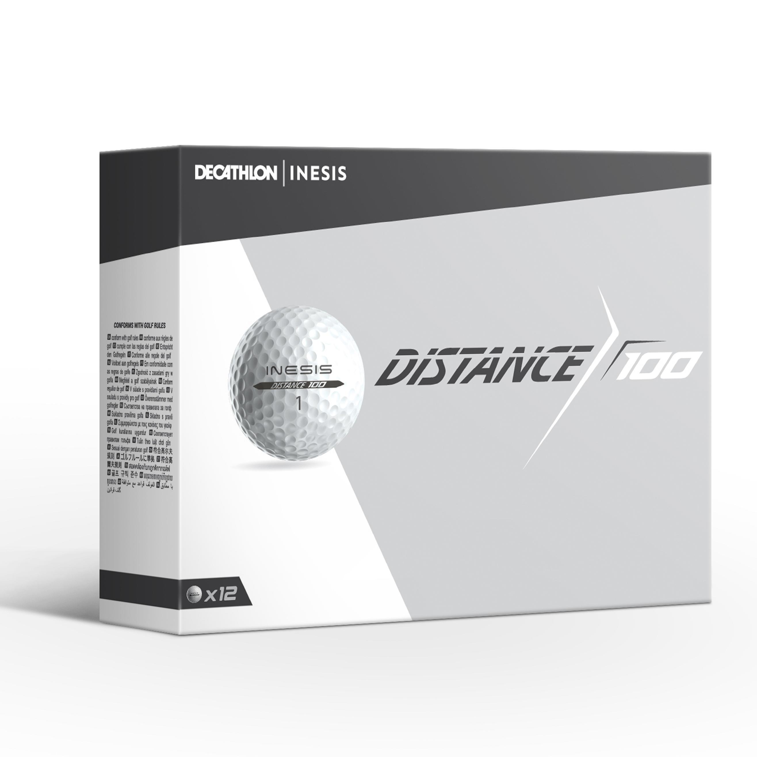 Bola Golf 100 - x12 Putih