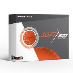 Bola de golf SOFT 500 MateX12 naranja