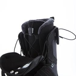 Chaussures de snowboard all mountain, femme, Pearl zone lock, noire