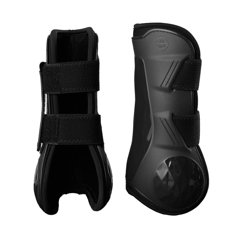 500 Jump Tendon Boots for Horse - Black