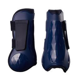 Protectores Fouganza 500 Jump Azul Marino Forma Anatómica Abiertos