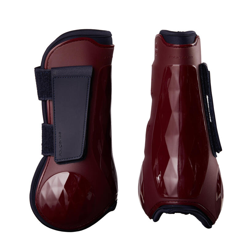 Horse Tendon Boots 500 Twin-Pack - Burgundy