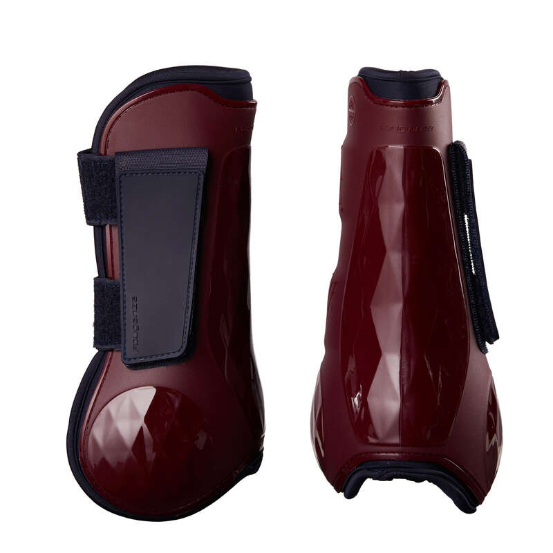 HORSE LEGS/ FOOT PROTECTION Horse Riding - 500 Tendon Boots - Burgundy FOUGANZA - Saddlery and Tack