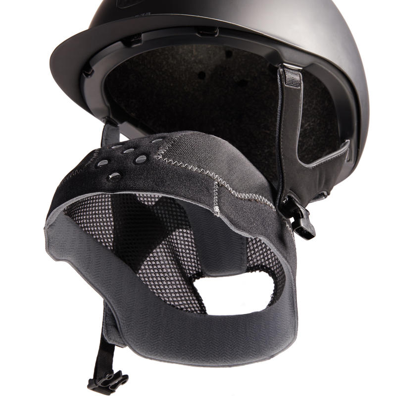 Adult and Kids' Horse Riding Helmet 520 - Matte Black